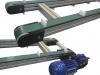 Convoyeurs à courroie crantée épaisseur 40 entraînement extrémité double bande