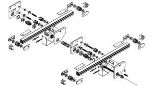 Convoyeurs à bande épaisseur 40 entraînement central double bande