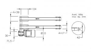Convoyeurs à bande épaisseur 40 entraînement extrémité double bande