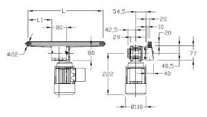 convoyeurs à bande épaisseur 20, entrainement central, largeur 20