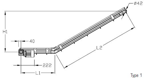 Convoyeurs articulés type 1 elcom