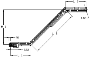 Convoyeurs incliné type 3 elcom