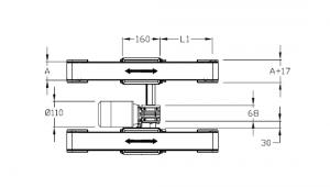 Convoyeurs à courroie crantée épaisseur 40 entraînement central double bande moteur interne