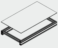 Sole en stratifié compact pour convoyeurs de 80 à 90 elcom