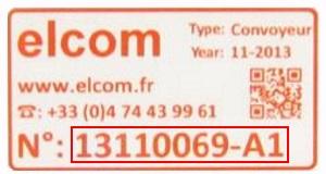 maintenance-convoyeurs-etiquette-numero-serie-elcom