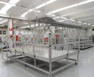 Plateformes en profilés aluminium rainuré EXcelcom d'h'elcom