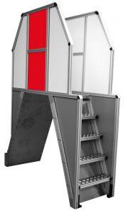 Escaliers et plateformes en profilés aluminium rainuré h'elcom