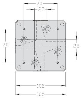 Palettes TLM 1000 multidirectionnelles Largeur 100