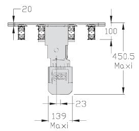 Retours 180° TLM 2000 Largeur 200 Longueur 250 transferts linéaires modulaires elcom