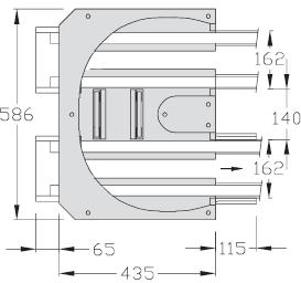 Retours 180° TLM 2000 Largeur 200 Longueur 250 transfert linéaire modulaire elcom