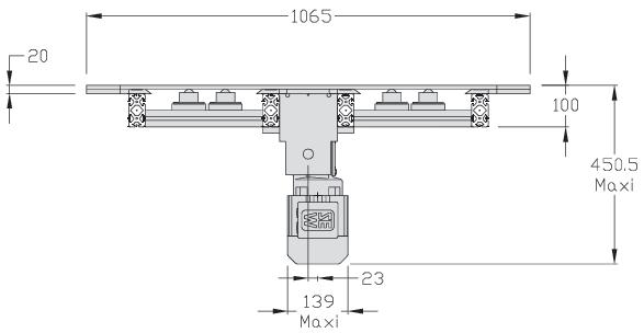 Retours 180° TLM 2000 Largeur 400 transferts linéaires modulaires elcom
