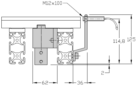Butées TLM 2000 courtes Largeurs 200 - 300 - 400 transferts linéaires modulaires elcom