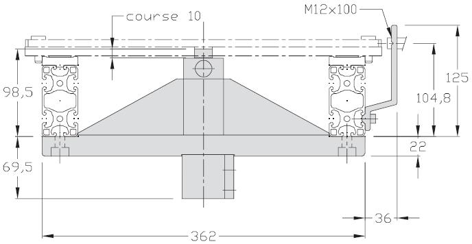 Butées TLM 2000 avec limiteur de choc 200 - 300 - 400 transferts linéaires modulaires elcom