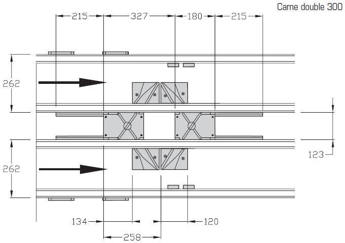 Cames doubles TLM 2000 Largeur 300 - 400 transferts linéaires modulaires elcom