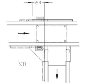 Dérivations Largeur 150 transfert linéaire modulaire elcom