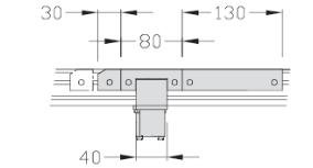 Dérivations TLM 1500 Largeur 150 transfert linéaire modulaire elcom