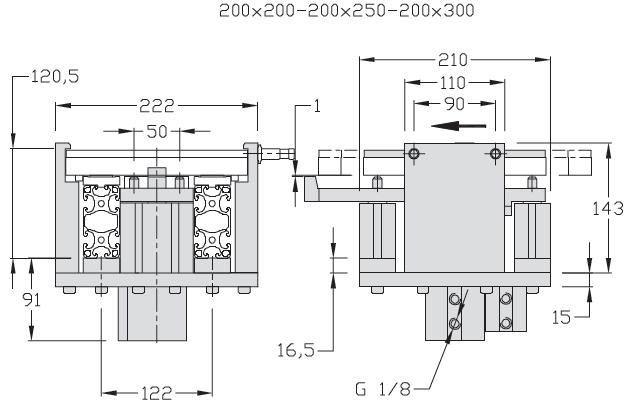 Indexages amortis TLM 2000 Largeur 200 - 300 - 400 transfert linéaire modulaire elcom