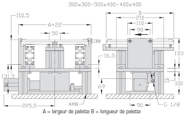Indexages lourds amortis Largeurs 200 - 300 - 400 transferts linéaires modulaires elcom