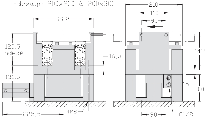 Indexages lourds Largeurs 200 - 300 - 400 transfert linéaire modulaire elcom