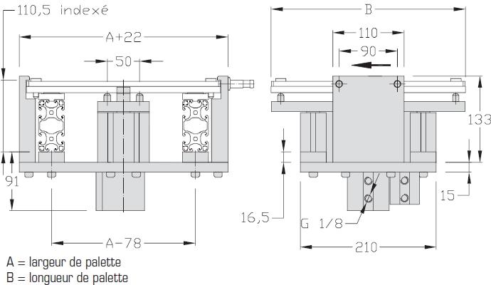 Indexages TLM 2000 Largeur 200 - 300 - 400 transfert linéaire modulaire elcom