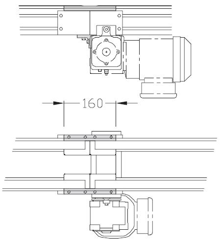 Jonctions TLM 2000 pour pour motorisation courroie crantée légère transferts linéaires modulaires elcom