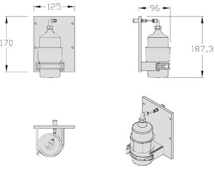 Kits lubrification chaîne unités de transport courroie lisse TLM 2000 elcom