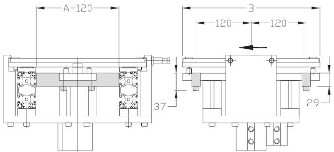 Renforts indexages TLM 2000 Largeurs 300- 400 transfert linéaire modulaire elcom