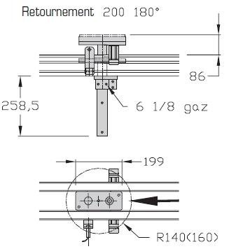 Retournements TLM 2000 180° Largeurs 200 transferts linéaires modulaires elcom