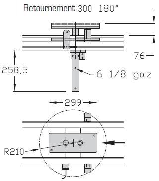 Retournements TLM 2000 180° Largeurs 300 transferts linéaires modulaires elcom