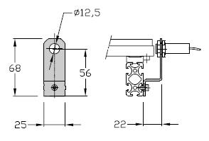 Support de détecteur TLM 1500 transferts linéaires modulaires elcom