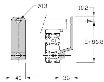 Supports de détecteurs TLM 2000 M 12 x 100 transfert linéaire modulaire elcom