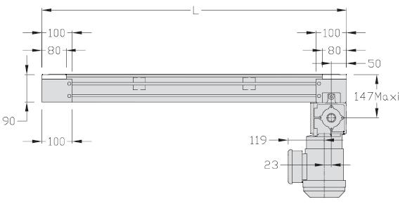 Unité de transport TLM 2000 courroie crantée légère transferts linéaires elcom