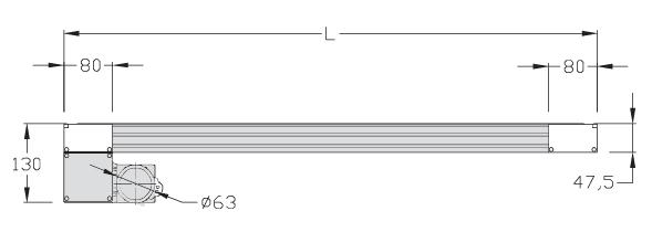 Unités de transport ITS 1000 24 V courroie crantée Largeur 100