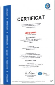 Engagement responsable elcom - ISO14001 2004