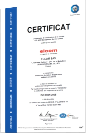 Engagement responsable elcom - ISO9001 2008