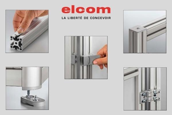 elcom accessoires profilés gris